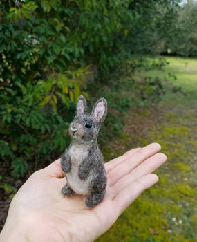 Needle felted cottontail bunny rabbit
