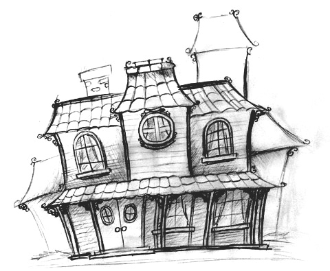 Mansion Drawing By Stane