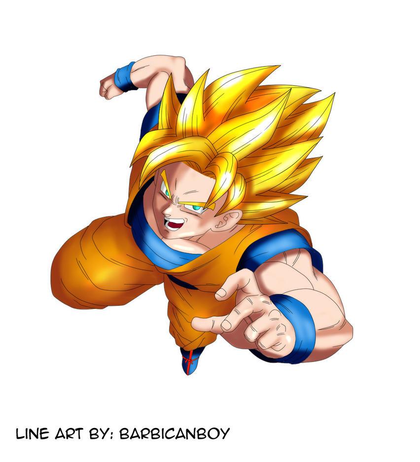 Goku Super Saiyan by Barbicanboy by ShadowHoshigaki102