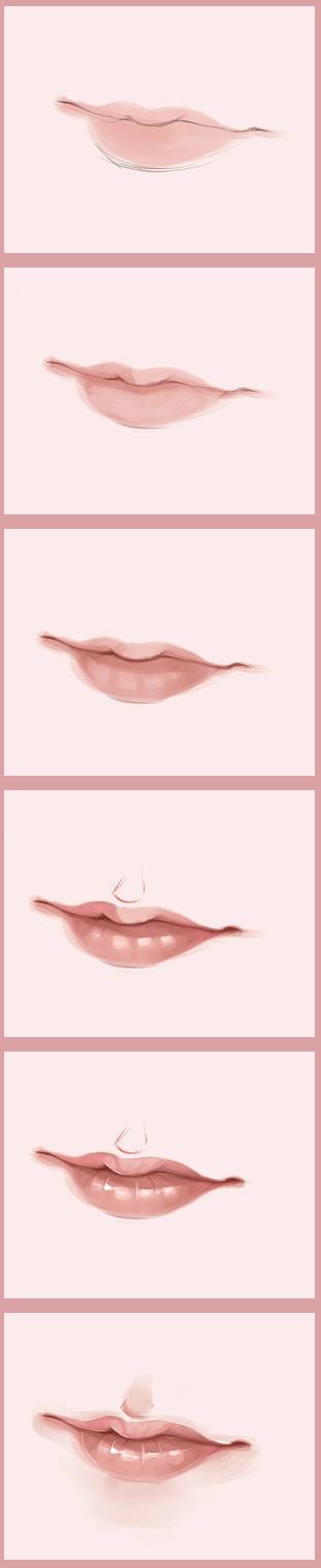 Lips walk through by Yizar