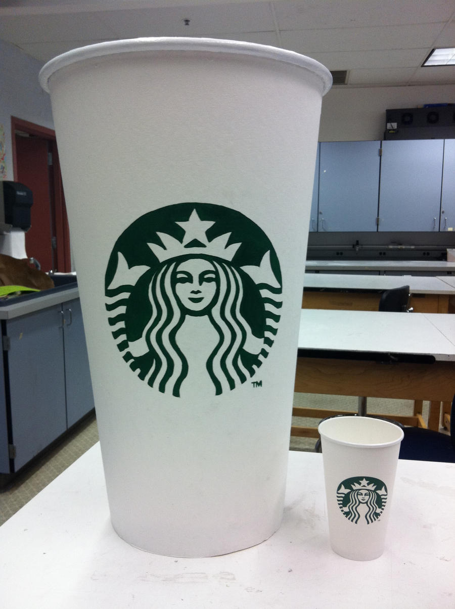 Giant Starbucks Cup Front View By Etodorut On Deviantart