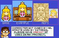 Princess Peach (Superstar Saga Title Screen)