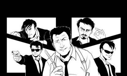 (WIP) Reservoir Dogs Fan-Art by Shukei by shukei20