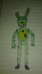 Quick Springtrap Sketch by LongIslandMisfit