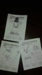 FNAF sketches by LongIslandMisfit
