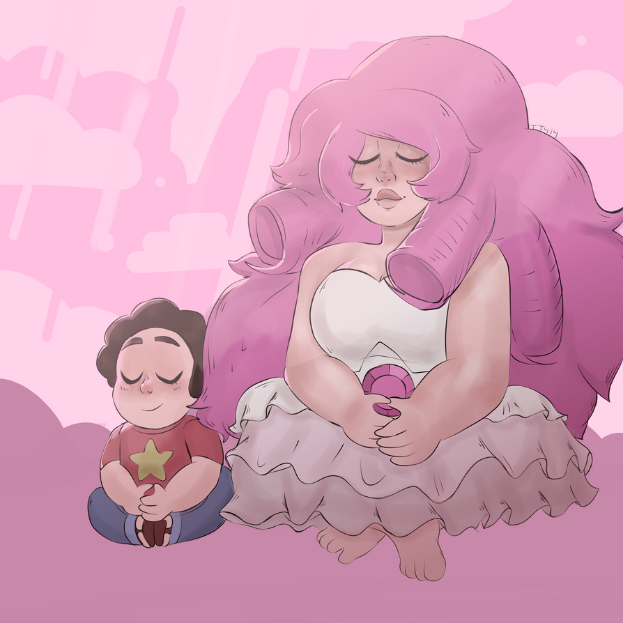 OMG DID YOU GUYS SEE THE NEW EPISODE LIKE OKAYYY WOOOW  IT WAS GOOD!!! Anyways I DOODLED A THING (I can never draw rose tbh) Rose and Steven © Rebecca Sugar Art © tt414