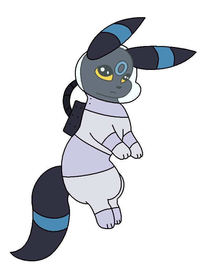 Astronaut Shiny umbreon by NeVerDark1211