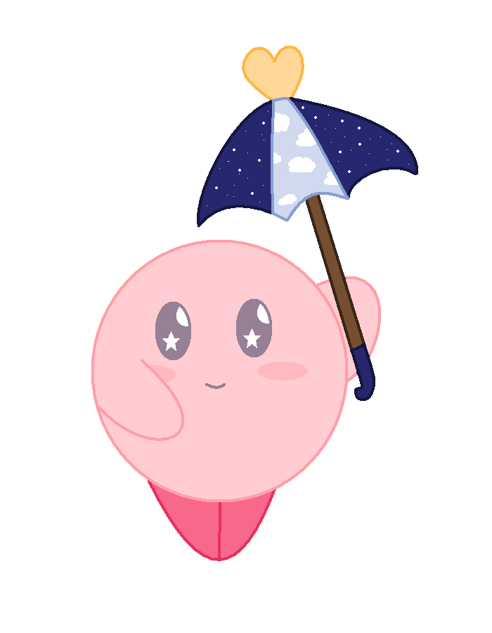 Space Parasol Kirby by NeVerDark1211
