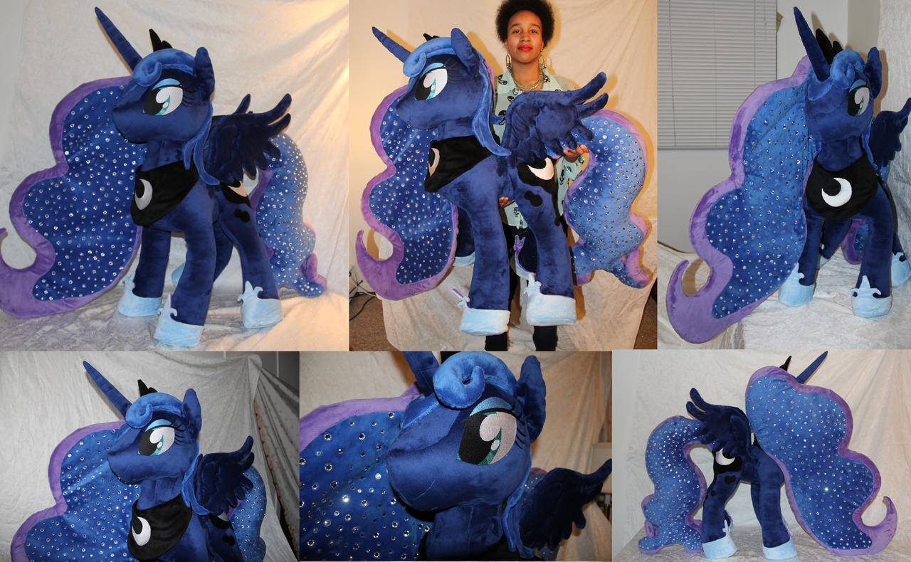 Giant Princess Luna Plush (38 inches) FOR SALE by PantherPawCreations
