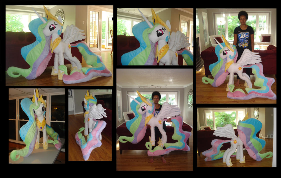 Giant Princess Celestia Plush (48 in) Finished! by Dreamangel686