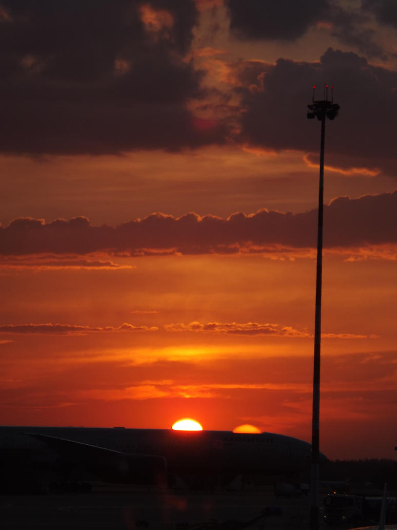 Sunrise in the airport Sheremetyevo by Aby-of-N-city