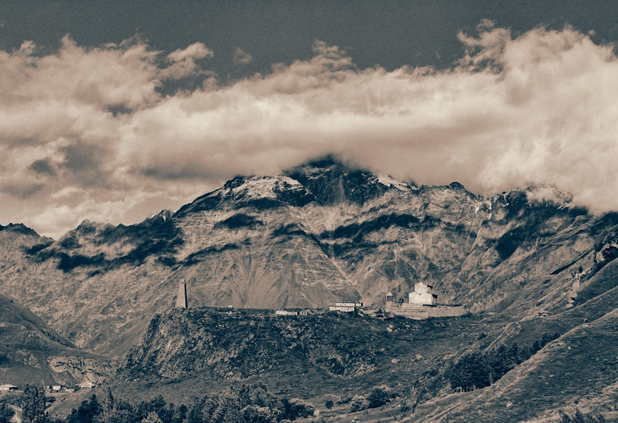 Caucasus VII (the lonely temple) by Borymir
