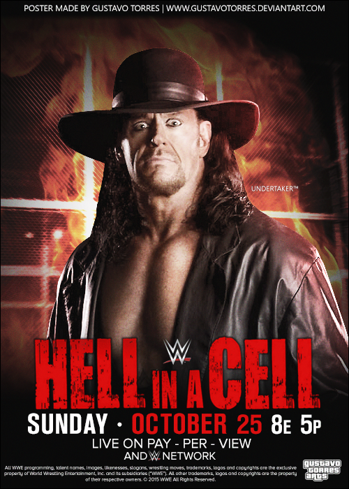 WWE Hell in a Cell 2015 Poster by GustavoTorres