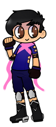 The pink scarf guy! by MygreatRiddle