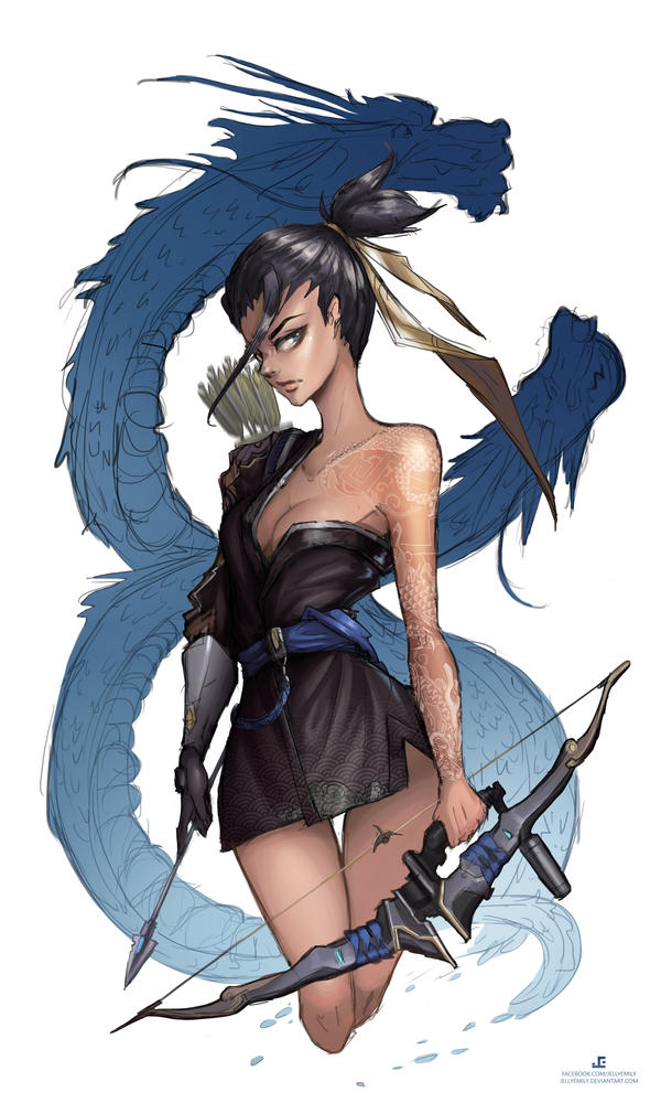 Overwatch - Female Hanzo by JELLYEMILY