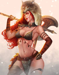 |Commission| Red Sonja by JELLYEMILY