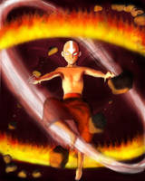 Avatar Aang by WhiteWolfMystic