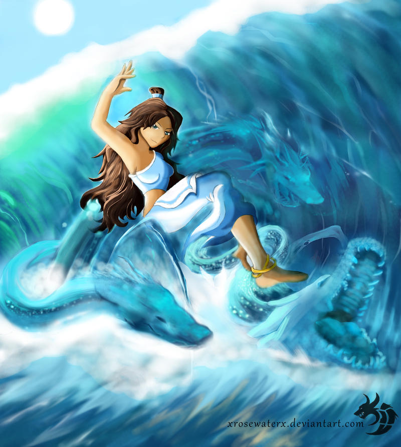 Selena - Surfing on Dragons by XRosewaterX