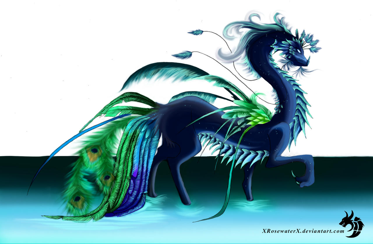 peacock.dragon by XRosewaterX