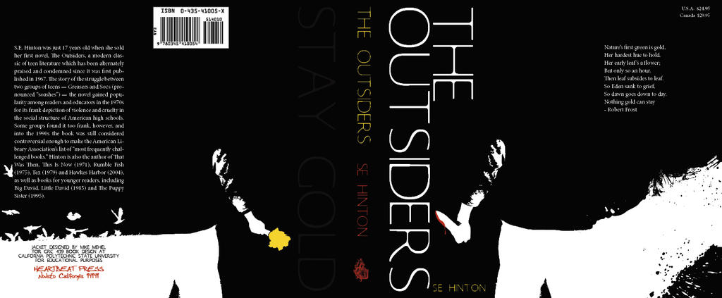 The Outsiders Book Cover Pictures : The outsiders book cover by xtitanx on deviantart