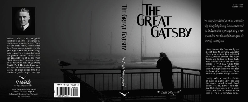 Great Book Cover Art : The great gatsby book cover by xtitanx on deviantart