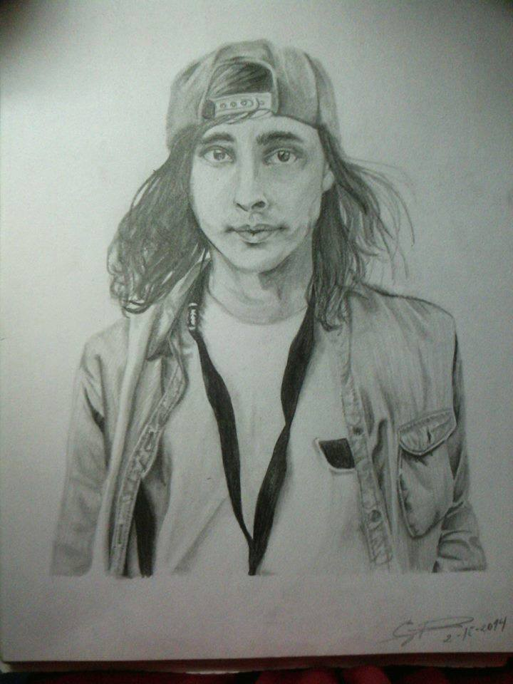 Vic Fuentes (Pierce The Veil) by iatesantaforlunch