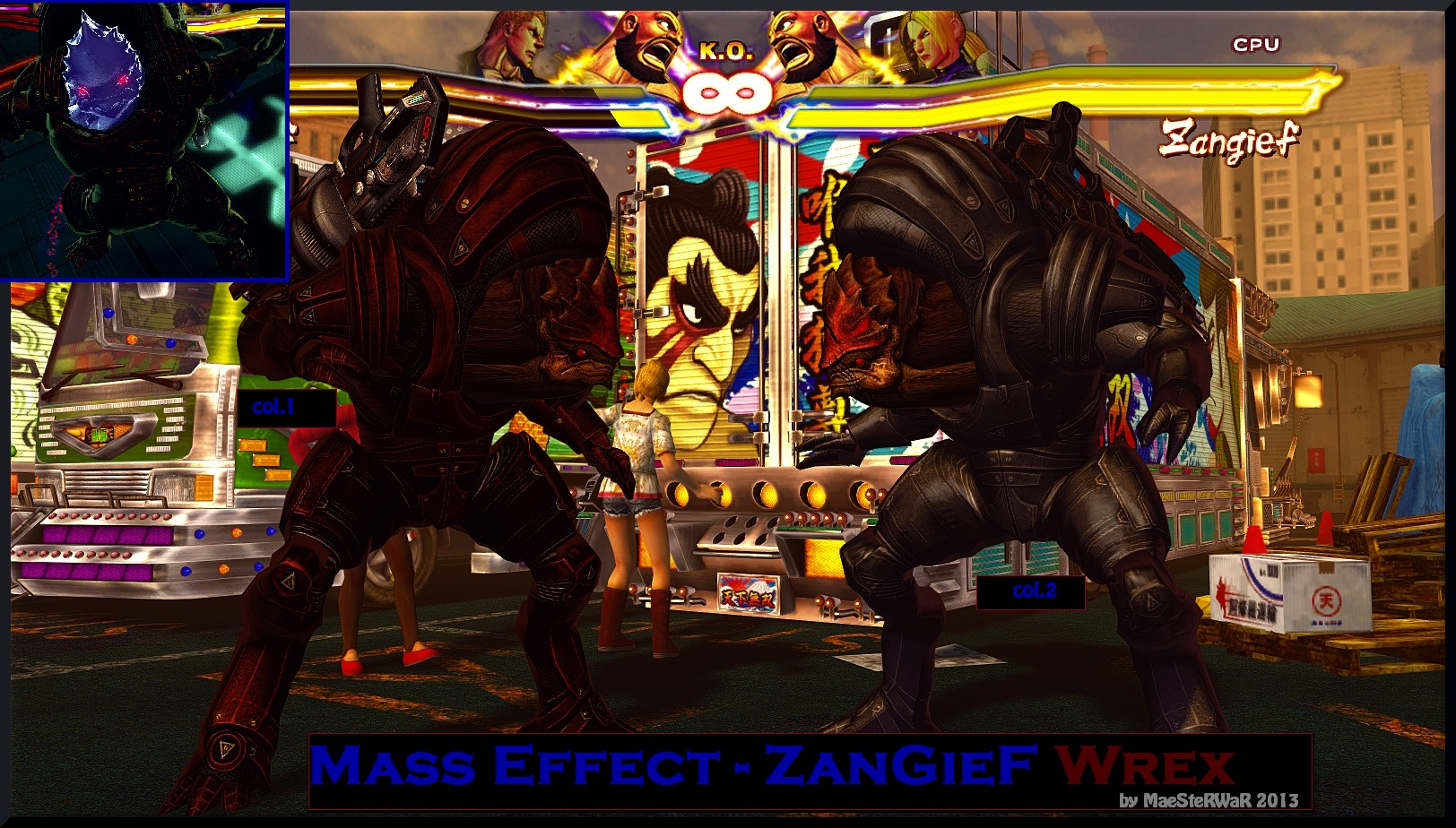 Zangief As Urdnot Wrex SFXTekken by MaesterLee