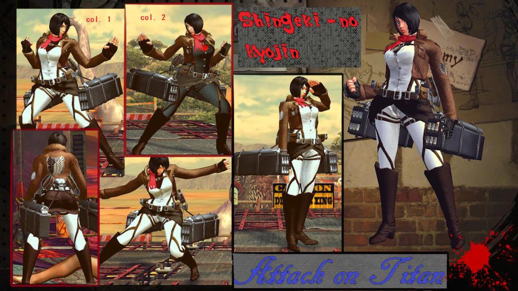 Cammy Shingeki no Kyojin Mikasa download by MaesterLee