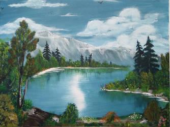 010. Mountain Lake by Draiochta