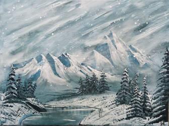 012. Snow fall by Draiochta