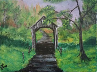 018. Covered Bridge by Draiochta