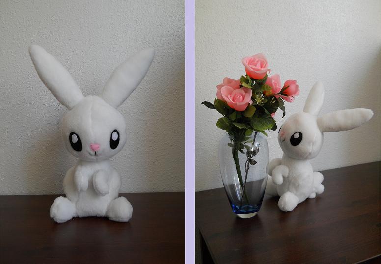 Angel Bunny plush by HedaMiu