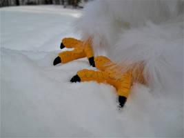 Frosty the Posable Snow Gryphon OOAK Artdoll Feet