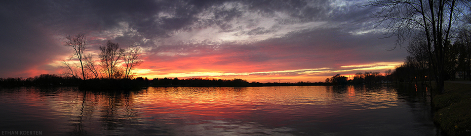 Wisconsin River Sunset 2 by djserby