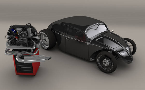 Hot Rod VW Beetle