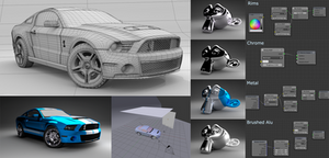Ford Mustang Shelby GT 500 - Parameters for Cycles