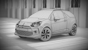 Citroen DS3 Racing 3D Wire by pierre-allard