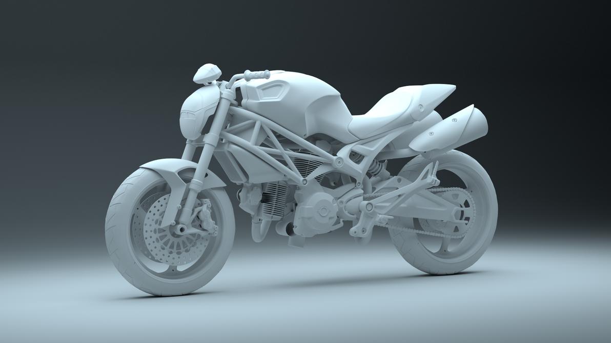 Ducati Monster 696 WIP 2 by pierre-allard