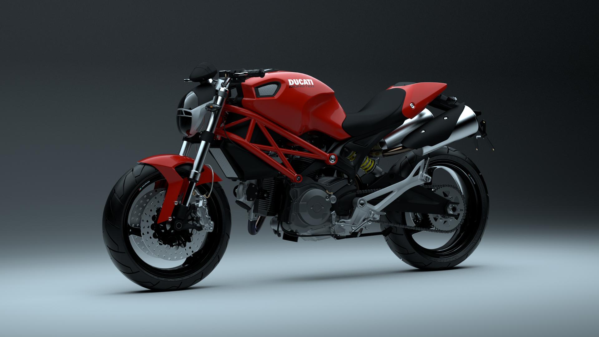 Ducati Monster 696 WIP (textured) by pierre-allard on DeviantArt