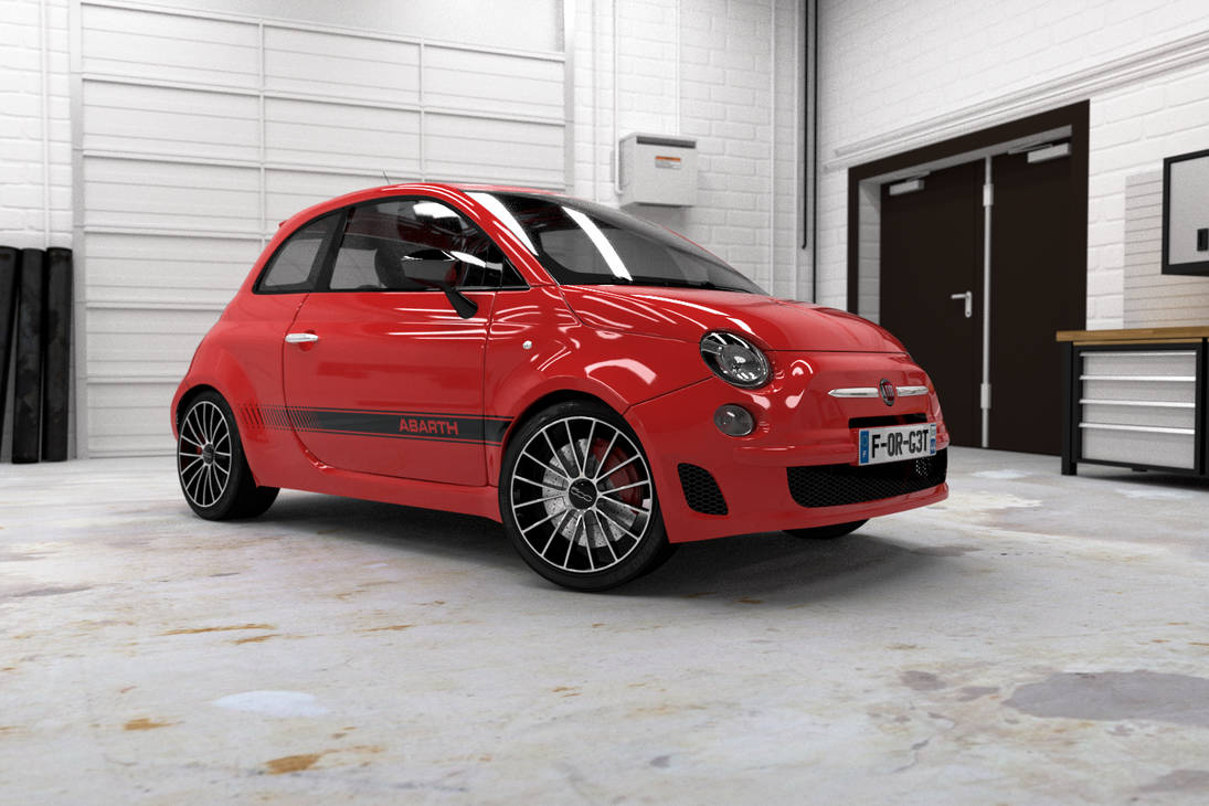 Fiat 500 Abarth 3D