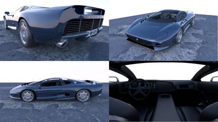 Latest WIP : Jaguar XJ220 3D