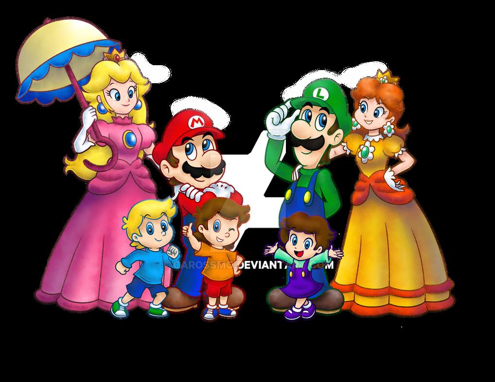 Super Mario: Family Stroll (WIP) by Allenare on DeviantArt