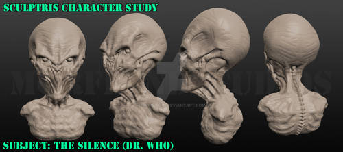 The Silence - Dr Who Fan Art