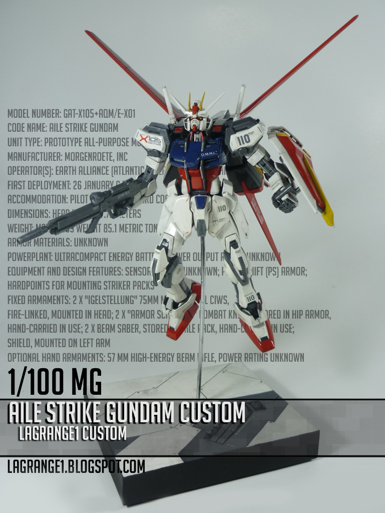 MG AILE STRIKE GUNDAM by shithlord