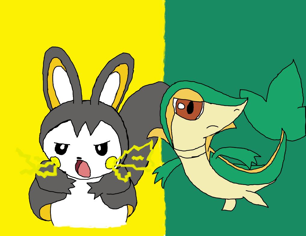 Pokemon Snivy Vs Emolga For Oshawott Heart Images ...