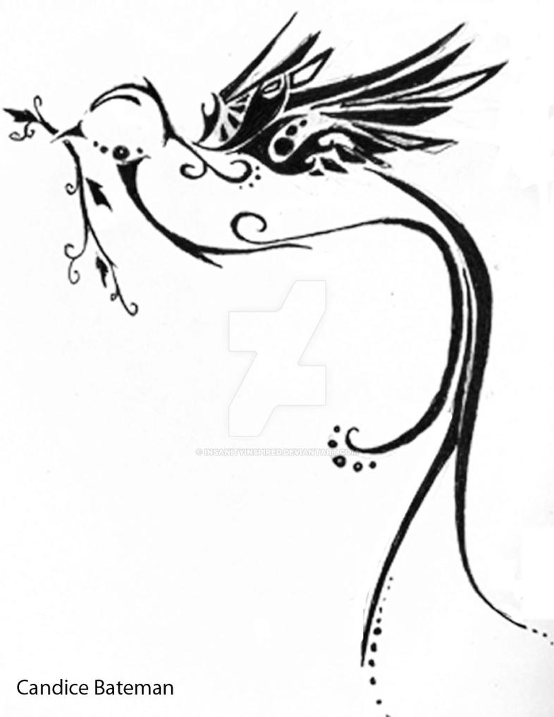 peace dove tattoo design by insanityinspired on deviantart. Black Bedroom Furniture Sets. Home Design Ideas