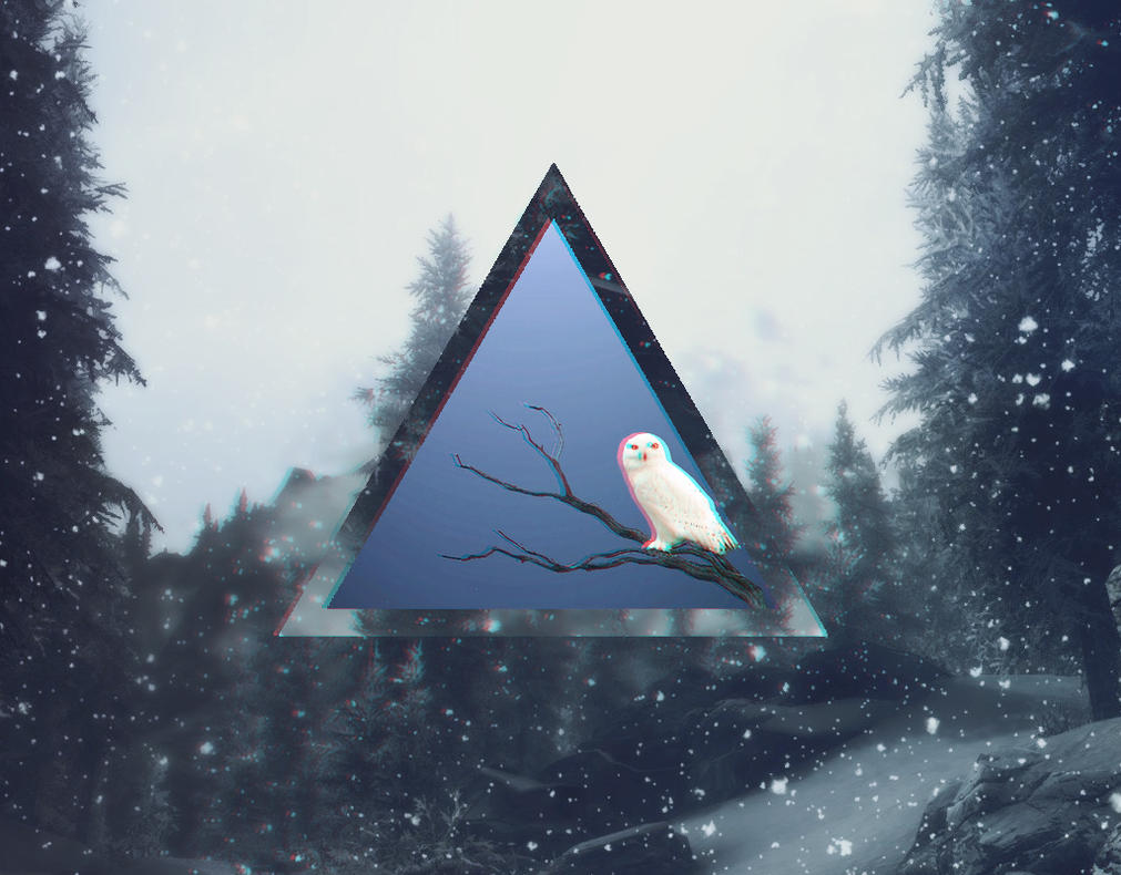 Snowy Owl Hipster Wallpaper by me969