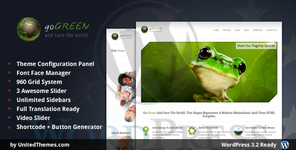 Go Green WordPress Theme by UnitedThemes