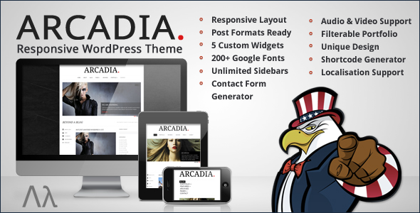 Arcadia Responsive WordPress Blog by UnitedThemes