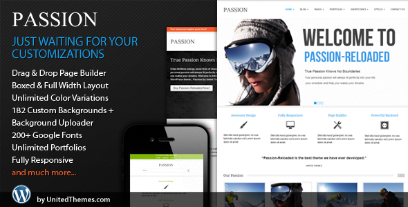 Passion Reloaded Responsive WordPress Theme by UnitedThemes